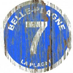 Panneau vintage bois Belle plagne