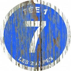 Panneau vintage bois Fee1
