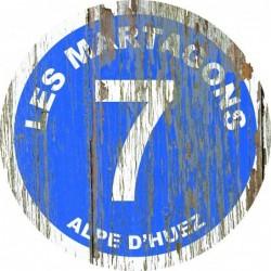 Panneau vintage bois Les martagons