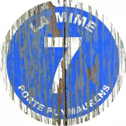 Panneau vintage bois La mime