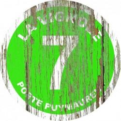Panneau vintage bois La vignole