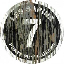 Panneau vintage bois Les sapins
