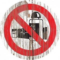 Panneau vintage bois cremes interdites