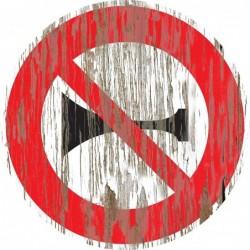 Panneau vintage Interdiction de klaxonner