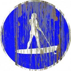 Panneau vintage Paddle woman autorize