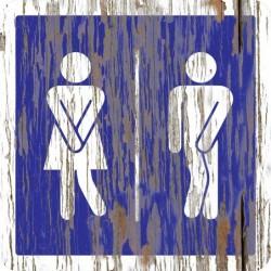 Panneau vintage Toilettes original