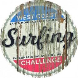 Panneau vintage West coast surfing