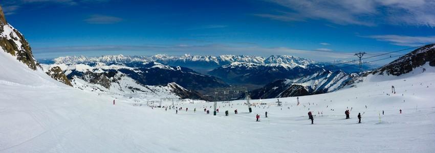 Panneau piste de ski bois Vintage Courchevel